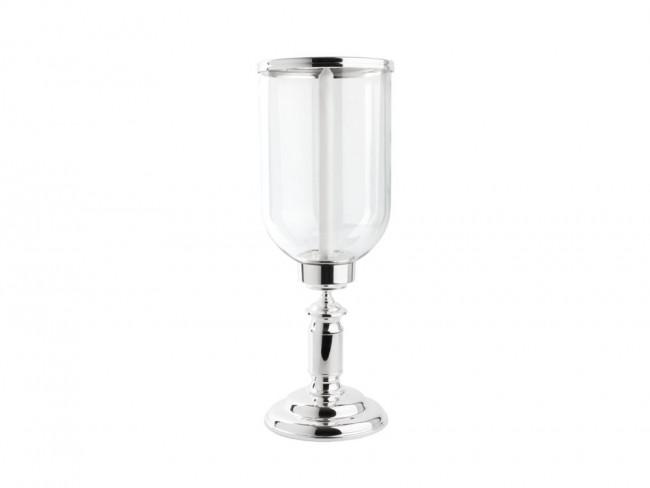 Windlicht Icona ø19x51,5cm glas/voet vz/l