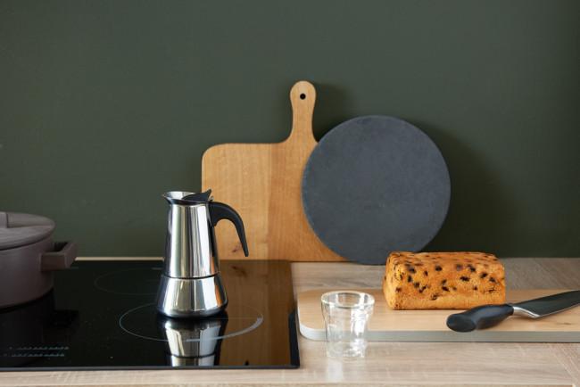 Espressomaker Trevi 4-kops rvs