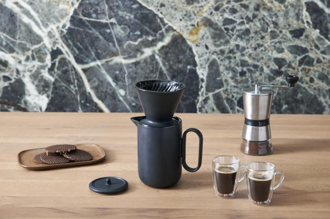 Koffieset Palermo 900ml zwart