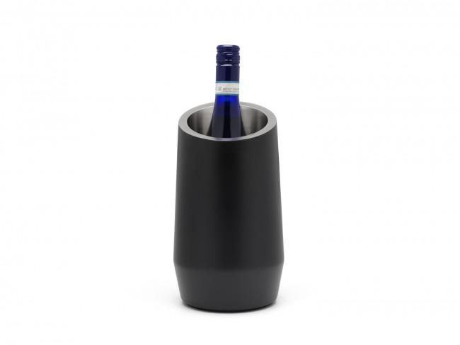 Wijnkoeler dubbelwandig mat zwart