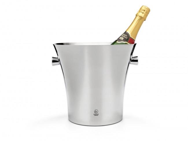 Champagnekoeler enkelwandig met grepen rvs