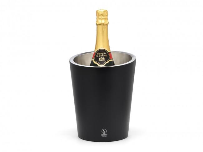 Champagnekoeler dubbelwandig mat zwart