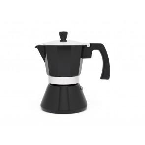 Espressomaker Tivoli zwart 6 cups (inductie)