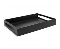 Dienblad 40x30x6cm MDF zwart